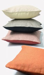 Buy Faux Jute Coffee Color Cushion Cover