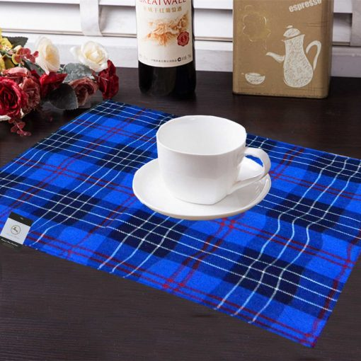 Avioni Premium Faux Silk Table mats With Matching Napkins Export Quality ( Set of 12) …