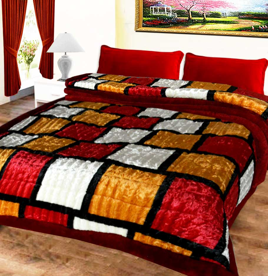 Avioni Quilts very Beautiful Multicolor Checks Soft And Warm Microfiber Filling …