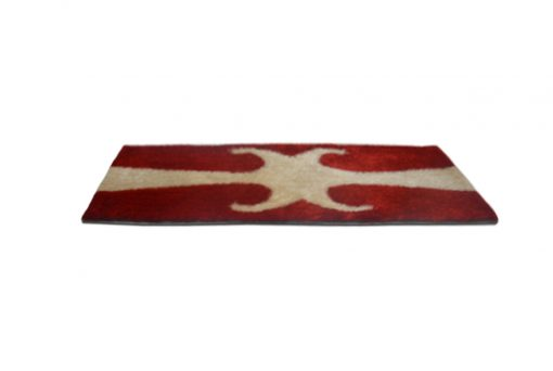Shaggy Carpet / bedside runner in Red With Design (22x55 Inches) by Avioni