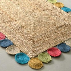 Jute Rug – Braided Area Rugs -Colorful Contemporary Design – Handmade – 3 feet X 5 feet – Avioni Premium Eco Collection – Best Seller