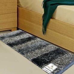 Avioni Handloom Dark Grey Plain Solid Premium Bedside Carpet (22X55 Inch)