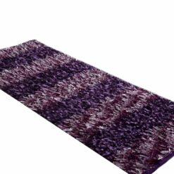 Avioni Handloom Light & Dark Purple Color Plain Solid Premium Bedside Carpet (22X55 Inch)