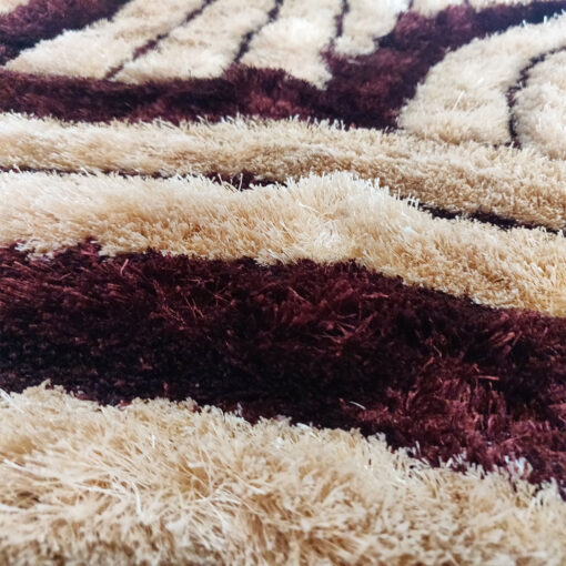 Shaggy Carpet 3D in Brown And Coffee by Avioni
