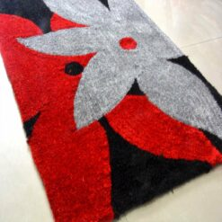 Handloom Rugs Carpets For Living Room In Red And Gray Floral by Avioni