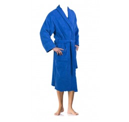 Loomkart Very Fine Export Quality Bath Robes in Blue in Avioni Zip-Packing- Standard Size