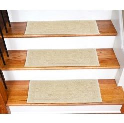 Stair Carpet –  High Quality Set of 6 Runners – Anti Slip With Rubber Backing – 30 x9 inches – Avioni