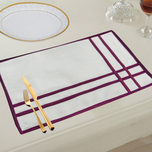 Avioni Premium Faux Silk Table mats ( Set of 6)
