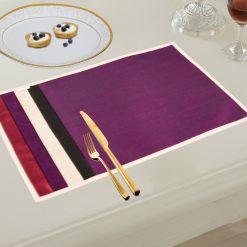 Avioni Premium Faux Silk Table mats ( Set of 6)