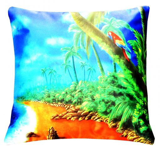 3D Cushion Covers Beautiful Palm Trees Waving- Best Price 16 X 16 Inch (set of 5) by Avioni