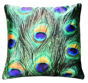 3D Cushion Covers Peacock Design- Best Price 16 X 16 Inch (set of 5) by Avioni