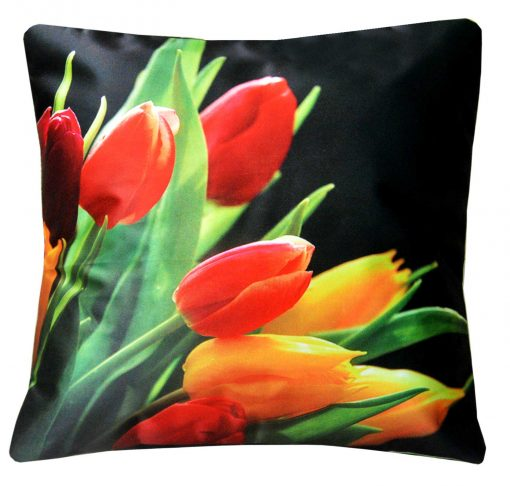 3D Cushion Covers Beautiful Flower With Buds- Best Price 16 X 16 Inch (set of 5) by Avioni