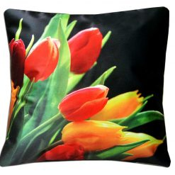 3D Cushion Covers Walk With flowers- Best Price 16 X 16 Inch (set of 5) by Avioni