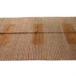 Shop for Multipurpose Handloom Chenille Rugs (Durries) in Brown Color