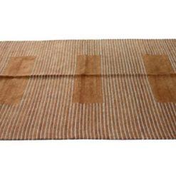 Buy Multipurpose Handloom Chenille Rugs (Durries) in Brown Color