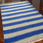 Luxe Soft Premium Chenille Durrie Blue Color - 3 X 5 Feet by Avioni
