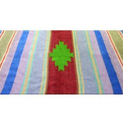 Buy Multipurpose Handloom Rugs (Durries) Multicolor With Sky Blue Border Red Center By Avioni