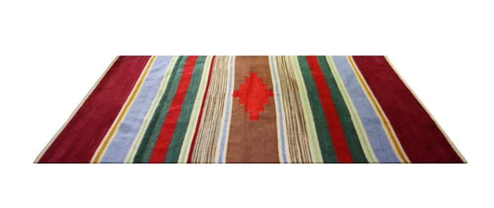 Buy Multipurpose Handloom rRugs (Durries) Multicolor With Red Border Brown Center By Avioni