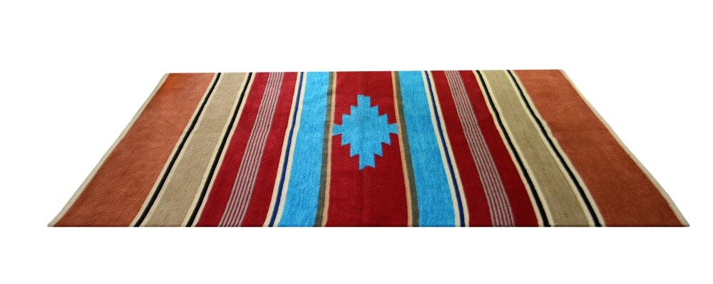 Buy Rugs (Durries) multicolored With Light Brown Border & Red Center Online