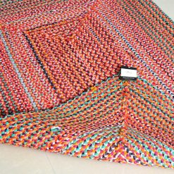 Rag Rug – Braided Rugs in Cotton Chindi –  Contemporary Colorful Design – Handmade – Reversible – 3 X 5 feet – Avioni Premium Eco Collection