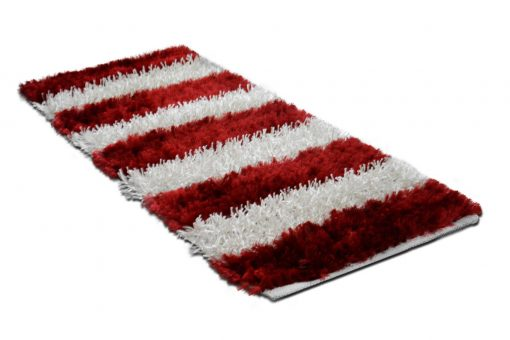 Buy Shaggy Rugs(2 Feet X 5 Feet) Red And White By Avioni