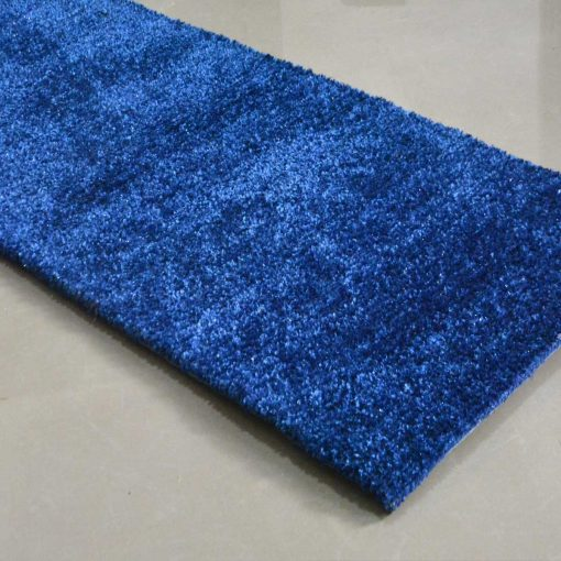 Handloom Blue Plain Solid Premium Bedside Carpet (22X55 Inch) … By Avioni