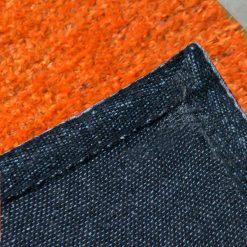 Avioni Handloom Orange Plain Solid Premium Bedside Carpet (22X55 Inch)