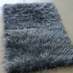 Avioni Handloom Grey Plain Solid Premium Bedside Carpet (22X55 Inch)