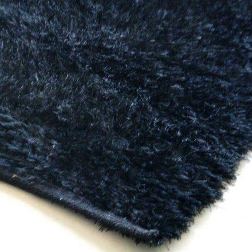 Avioni Handloom Black Plain Solid Premium Bedside Carpet (22X55 Inch)