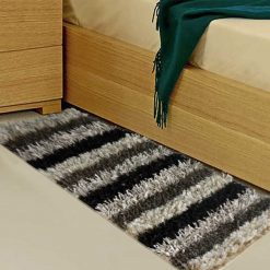 Avioni Handloom Multi Color Plain Solid Premium Bedside Carpet (22X55 Inch)