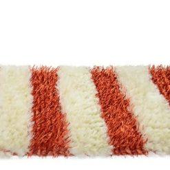 Buy Shaggy Runner( 2×5 feet ) In Orange with White Handloom By Avioni