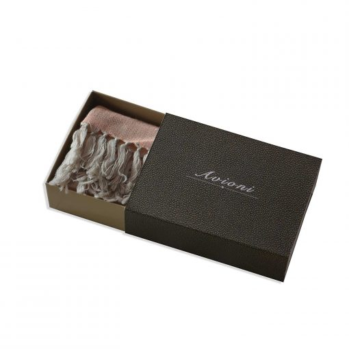 Himalayan Handloom 100% Pure Merino Wool And Silk Designer Scarf In Gift Box by Avioni