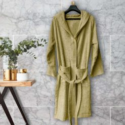 Loomkart Very Fine Export Quality Bath Robes in Beige- Standard Size