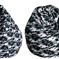 BIGMO Designer Bean Bags XXL Eye Catching Prints Waterproof Material Soft Touch Easy to Wash – Animal White and Black – Without beans