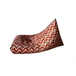 BIGMO Designer Bean Bag Lounger Extra Soft In Red Waves