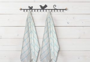 Kitchen Towels 100% Cotton (Set Of Six) White Color