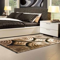Modern Rug- Shag Pile  – contemporary Brown and Beige 3D – Factory Price from Avioni