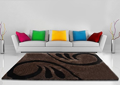 Shaggy Carpet in Brown Color -4 X6 Feet by Avioni