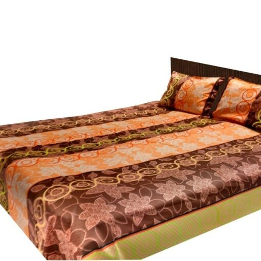 Double Bed Sheet 200 Tc 100% Fine Cotton Peach Design By Avioni