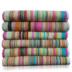 Home Essential Cotton Bath Towels Multicolor (Set Of 6)
