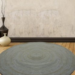 Bleached Jute Rug – Round Braided Area Rugs in Plain Design – Handmade – 5 feet Diameter –  Avioni Premium Collection