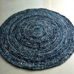 Denim Rug - Modern Braided Area Rugs in Ecofriendly Recycled Denim - Handmade - 4 feet Diameter - Avioni Best Seller @ Great Discount