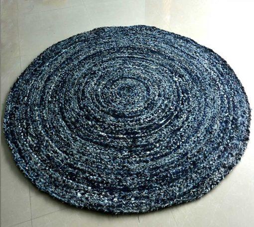 Denim Rug – Modern Braided Area Rugs in Ecofriendly Recycled Denim – Handmade  – Avioni Best Seller @ Great Discount