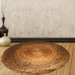 Jute Carpet – Braided Area Rug in Natural Handmade unbleached Jute – 116 Cms Diameter –  Avioni @ Factory Price – Most Popular