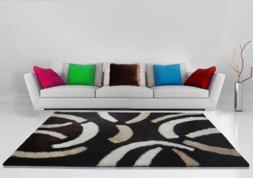 Shaggy Carpet Dark Coffee With Contemporary Design by Avioni