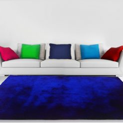 Luxury Shaggy Carpet in Royal Blue Plain by Avioni