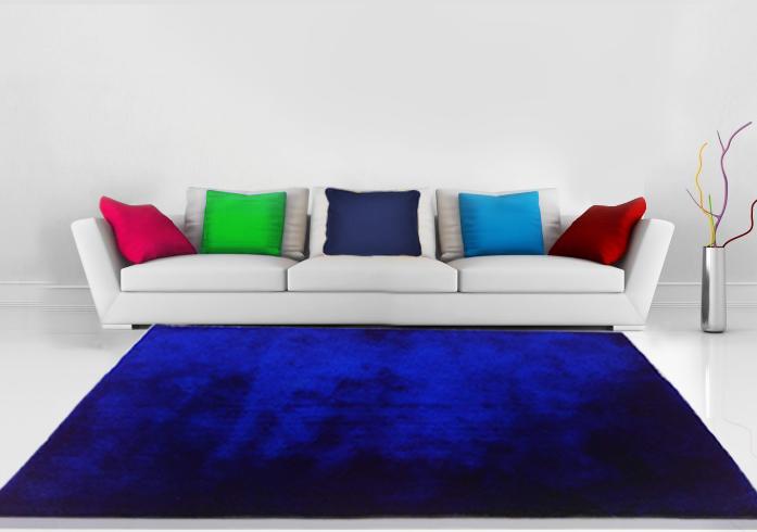 Luxuary Shaggy Carpet in Royal Blue Plain -4 feet X 6 feet by Avioni