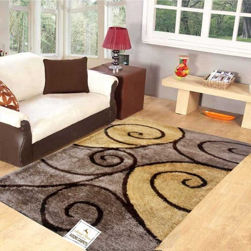 Premium Beautiful Curves In Brown Carpet For Living/ Drawing Room by Avioni