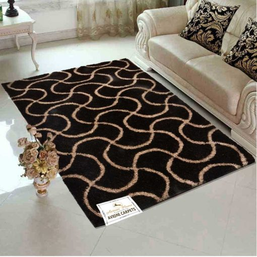 Premium Coffee Maze With Cream Carpet for Living/ Drawing Room - 3 X 5 Feet by Avioni