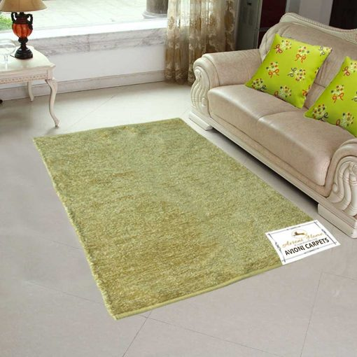 Handloom Rugs Carpets For Living Room Solid Colors Yellowish Golden Reversible-3 X 5 Feet by Avioni